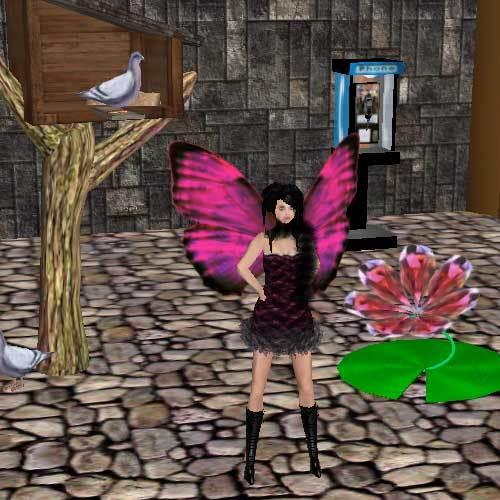 セカンドライフの蝶の羽の画像