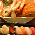 ズワイガニとお寿司