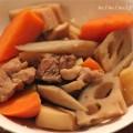 鶏と根菜の煮物の写真