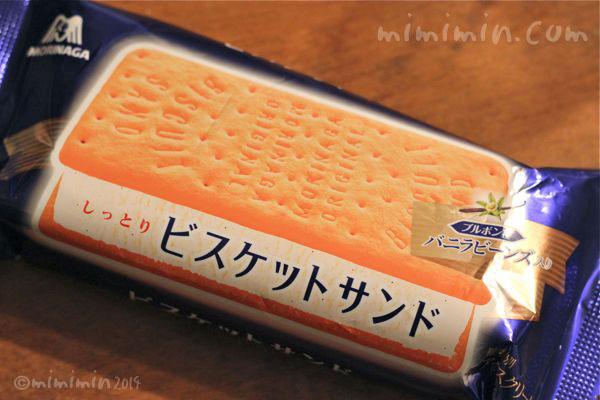 ビスケットサンドのアイスクリームの写真