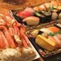 カニとお寿司の写真