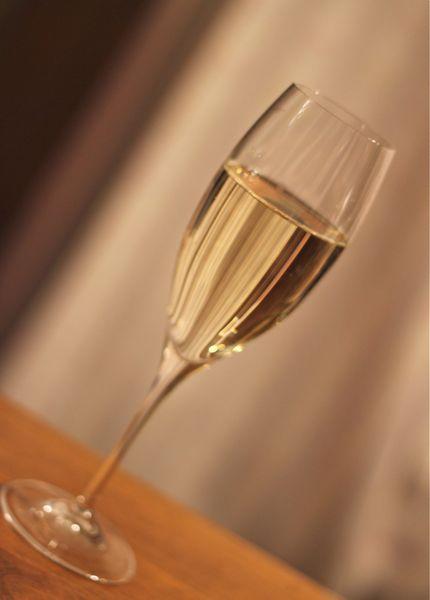 スパークリングワイン用のリーデルのワイングラスの画像