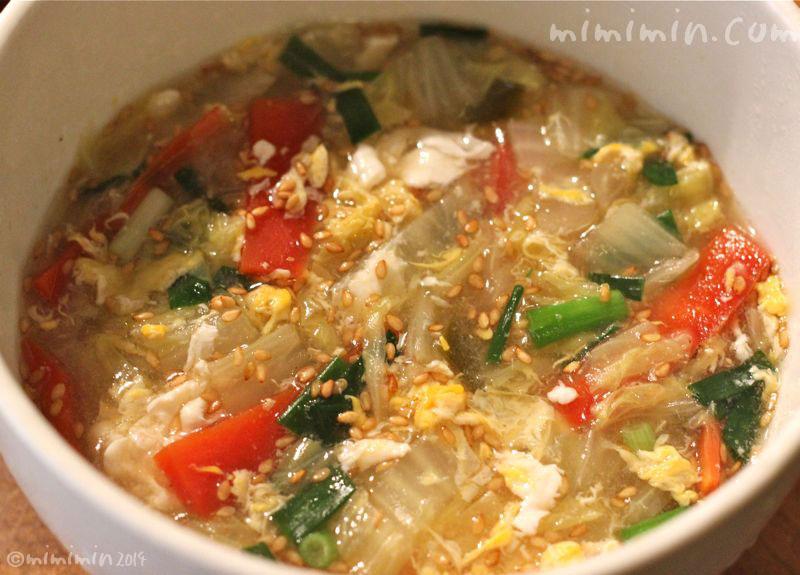 野菜たっぷり中華スープの画像