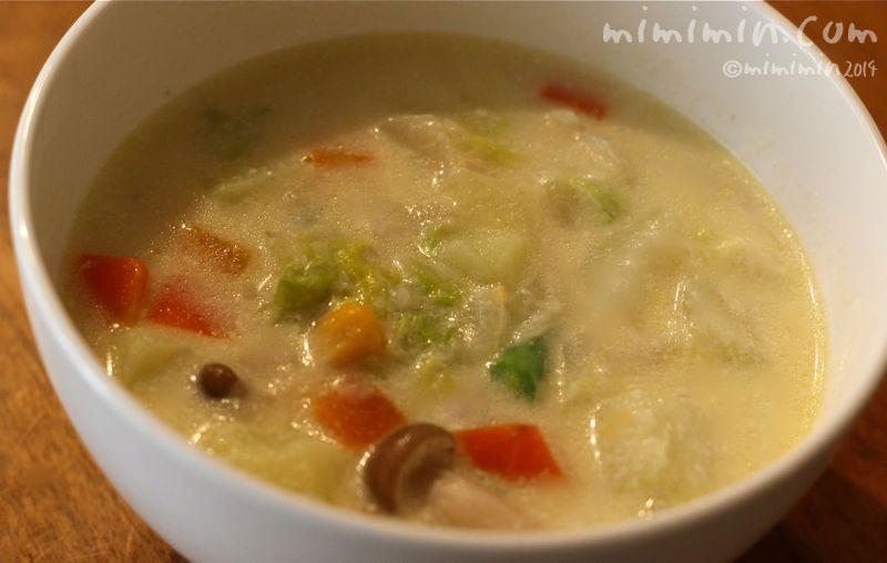野菜クリームスープの写真