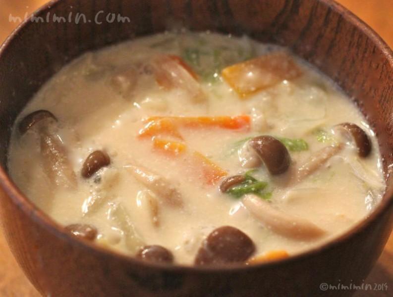 豆乳味噌スープの画像