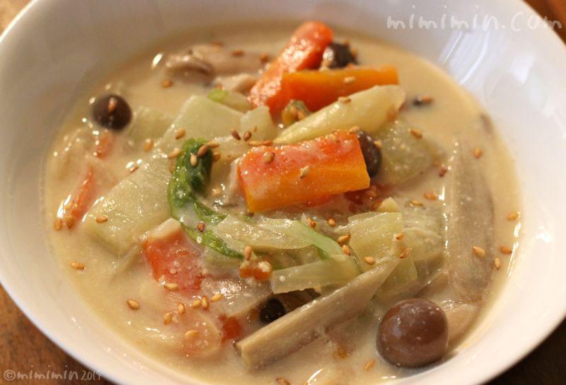 豆乳みそスープの画像2