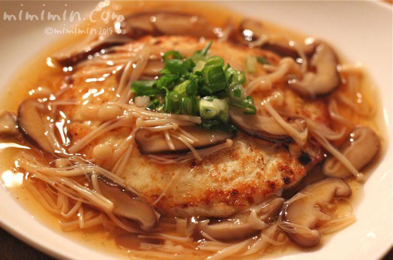 豆腐ハンバーグきのこあんかけの写真