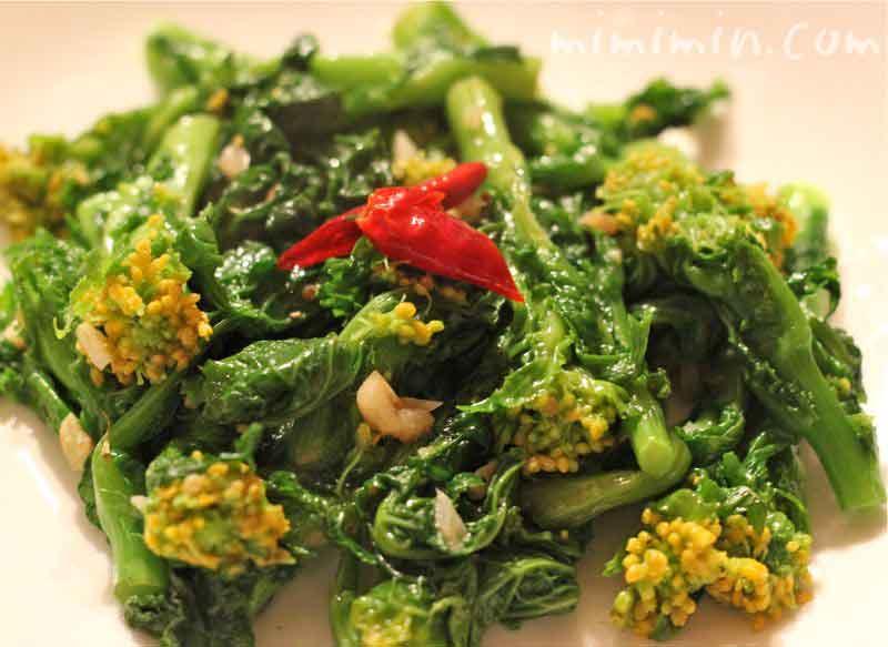 菜の花のペペロンチーノ(菜の花の炒めもの)の写真