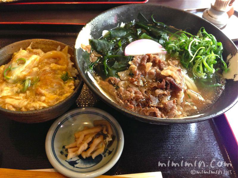 肉うどん&カツ丼の写真