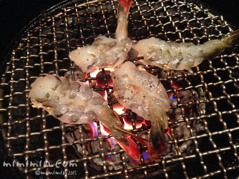 炭火焼肉トラジ園のエビ