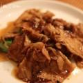 豚のしょうが焼きマーマレードソースの写真