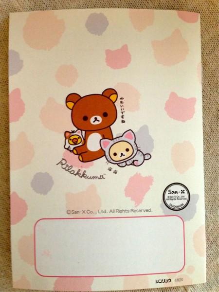 リラックマ(のんびりネコ)のおくすり手帳の画像