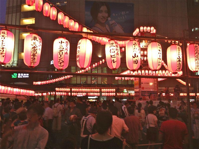 恵比寿駅前盆踊り大会の写真