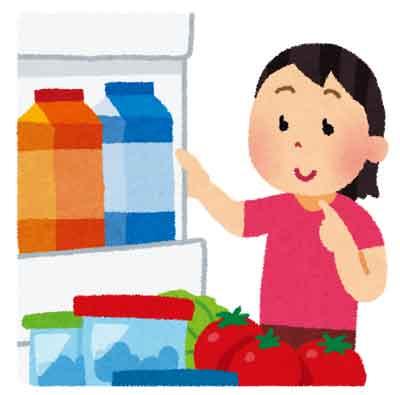 冷蔵庫の中の画像