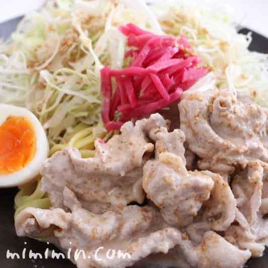 豚しゃぶ冷やし中華のレシピの画像