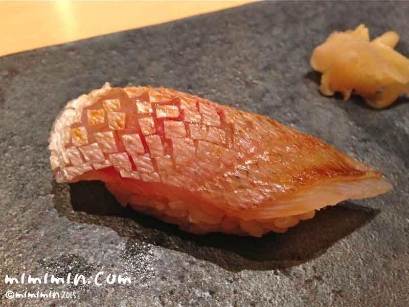 春子鯛の握り・鮨いまむらの画像