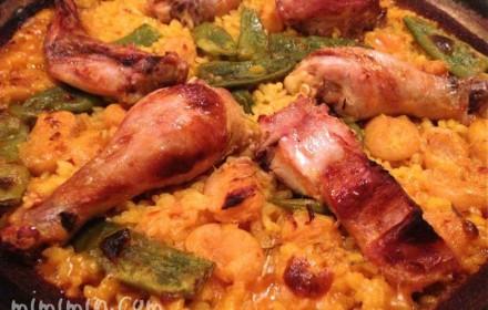 バレンシアパエリア(サル イ アモールのウサギと鶏肉のパエリア)の画像