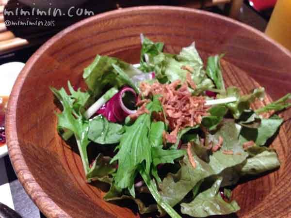 月のうさぎの朝食のサラダの画像