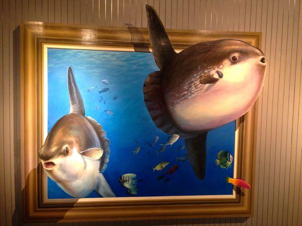 熱海トリックアート迷宮館のマンボーの絵