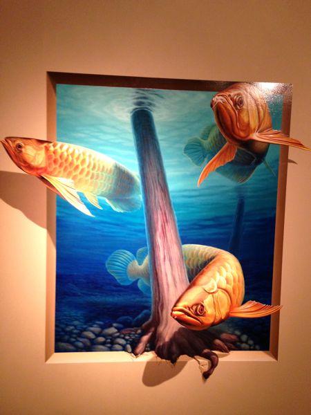 熱海トリックアート迷宮館の魚の絵