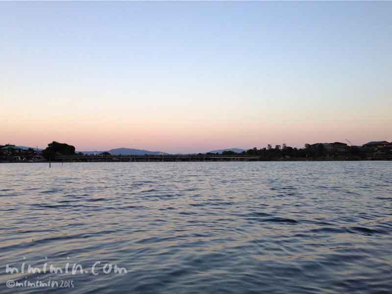 嵐山の夕焼けの写真