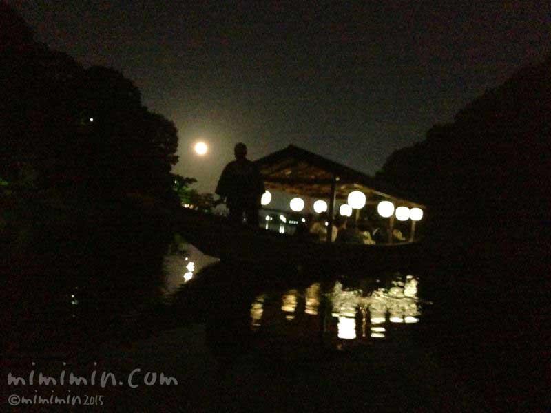 嵐山でお月見(スーパームーン)の写真