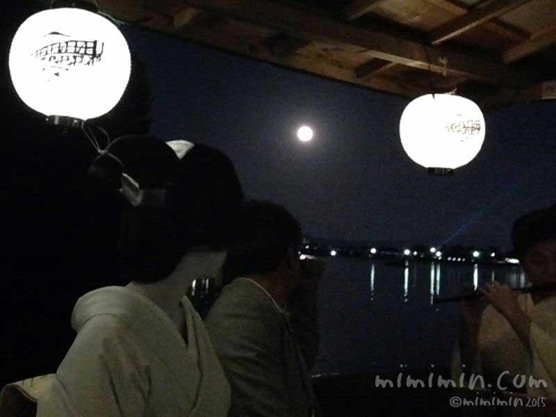 京都嵐山でお月見(スーパームーン)の画像