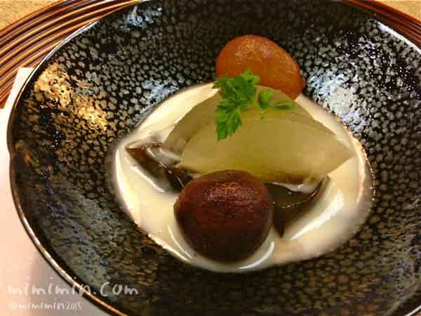 京都嵐山熊彦の会席料理のデザートの写真