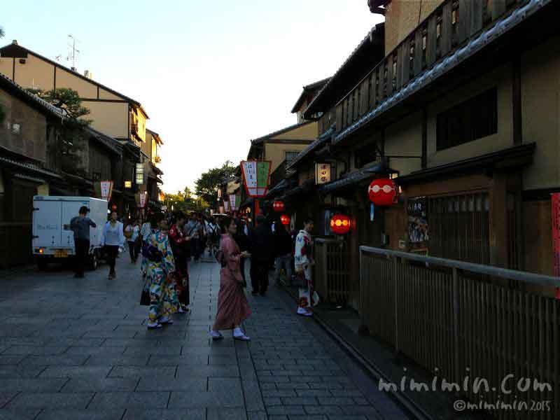京都 花見小路通の写真