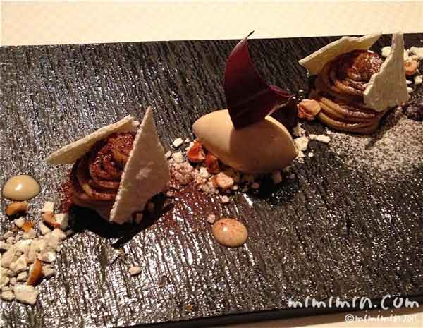 和栗のモンブランの画像