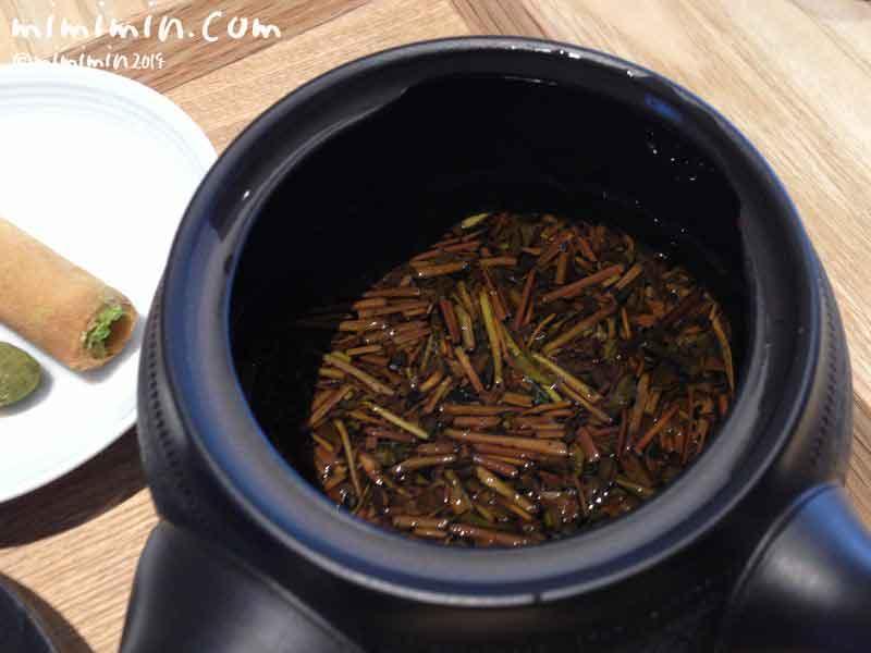 京カフェコムサのほうじ茶の画像