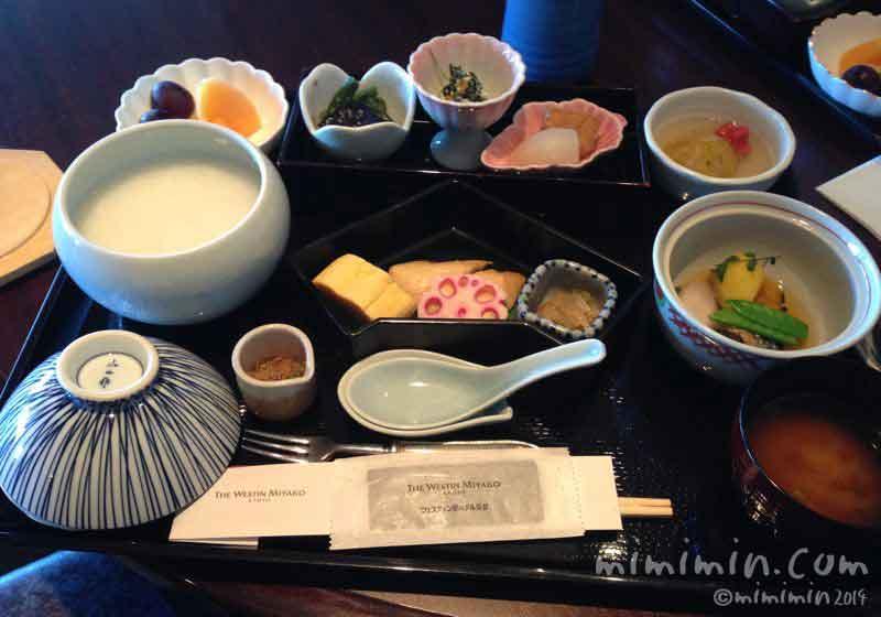 ウェスティン都ホテル京都の朝食の画像