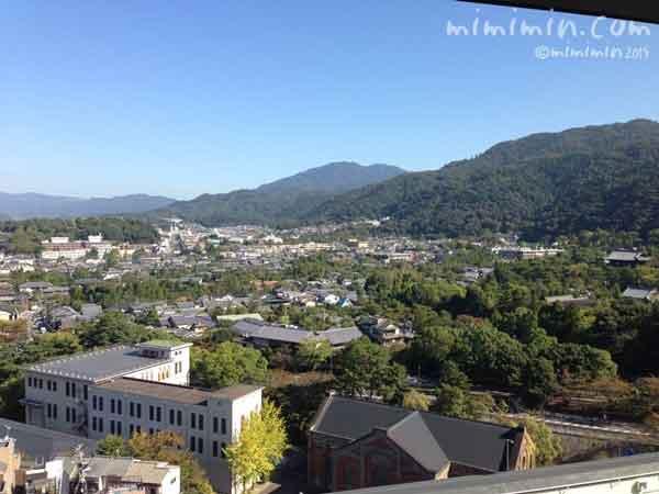 都ホテルから見える景色の写真