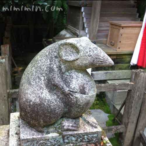 大豊神社の狛ねずみの画像