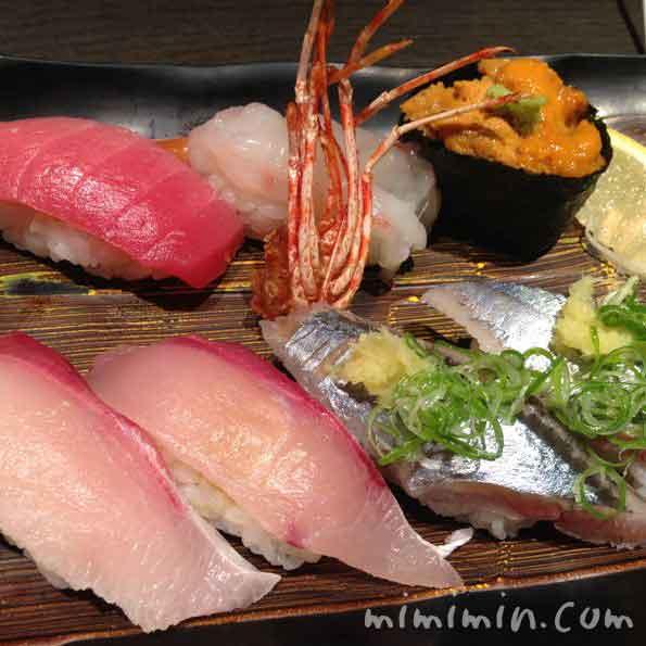 廻転寿司 京都 CHOJIROのにぎり寿司の写真