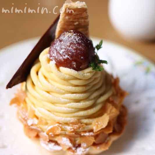 万平ホテルの安納芋のモンブランの写真