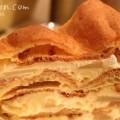 洋梨のミルフィーユ(ハーブスのケーキ)の写真