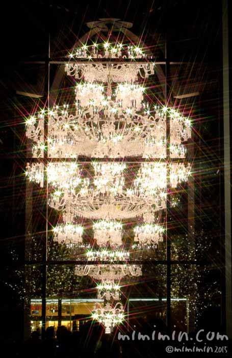 恵比寿ガーデンプレイスのバカラのシャンデリア2015年の画像