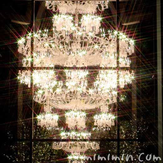 恵比寿ガーデンプレイスのイルミネーションのバカラのシャンデリア2015年の写真