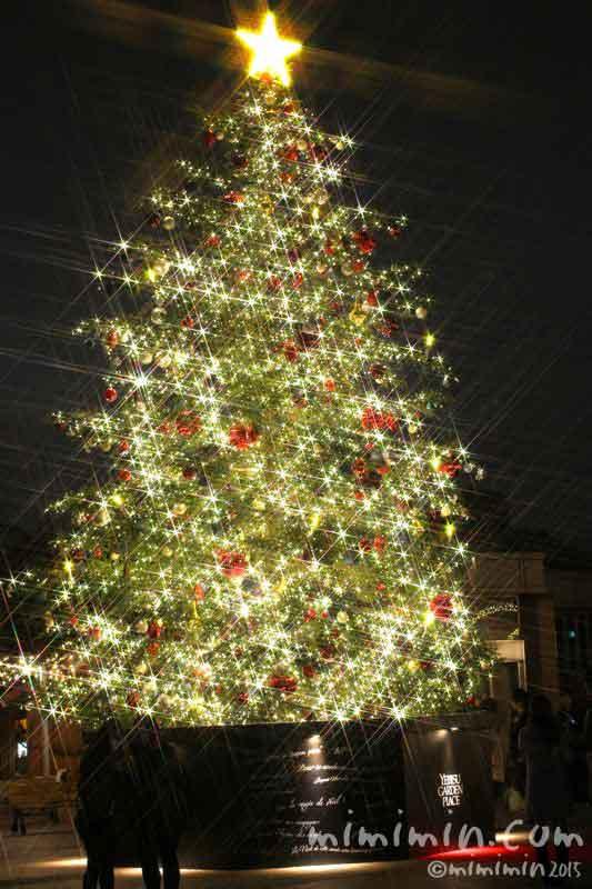恵比寿ガーデンプレイスのクリスマスツリー2015年の画像
