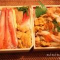 北海道物産展の北海岸の海鮮弁当の写真