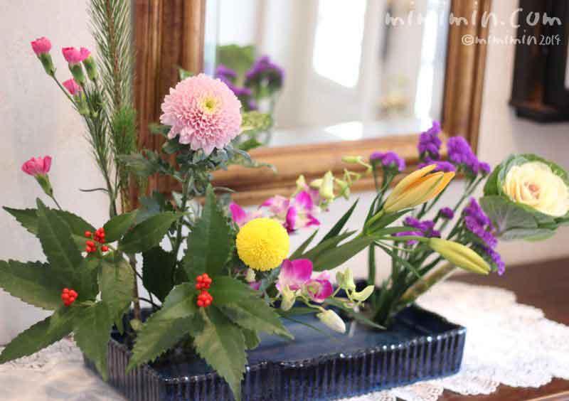お正月の生け花の画像