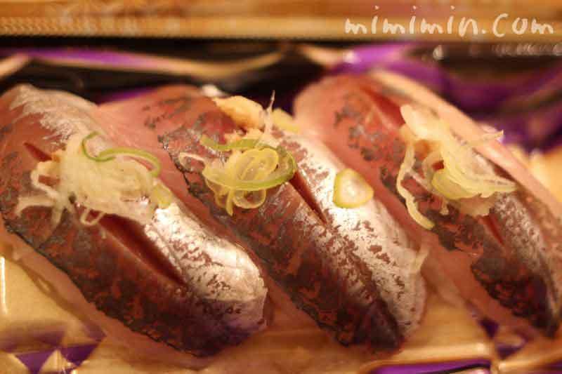 美登利寿司の真あじの握りの写真