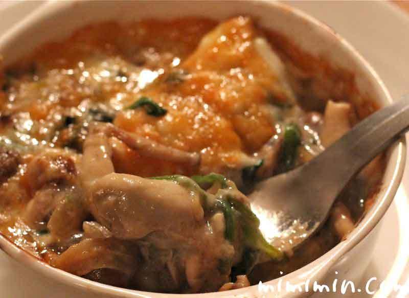 牡蠣とほうれん草の豆乳グラタンの画像