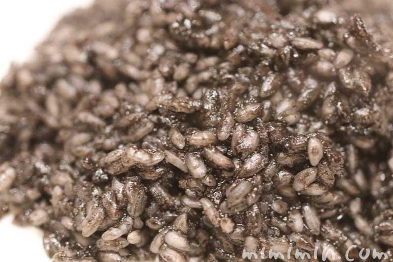 イカスミ入りカラスミリゾットの簡単レシピの写真
