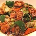 ヘルシー料理|油揚げの味噌炒め・ホイコウロウ風の写真