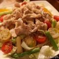 豚しゃぶサラダの冷やし中華のレシピの写真