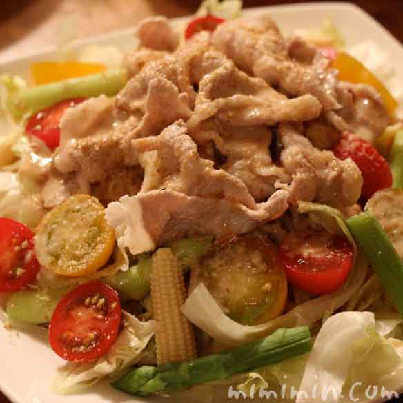 豚しゃぶサラダの冷やし中華の画像
