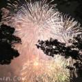 横浜ポートサイド公園から見た神奈川新聞花火大会の写真