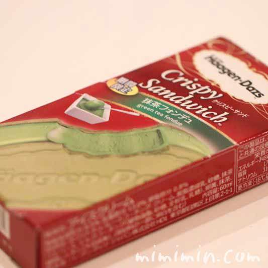 抹茶フォンデュのパッケージの画像
